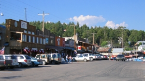 The little town of Cloudcroft was a sight for sore eyes after climbing nearly 6000 feet