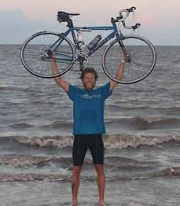 This was the greatest moment of my life up till this point... standing in the Atlantic Ocean after 19 days of scorching heat, brutal winds, and massive mountains.  I finally reached my goal.  Dream Big !