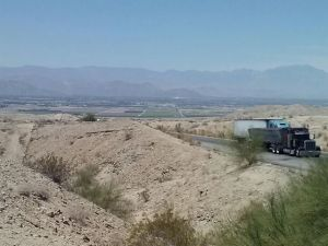 Leaving Palm Springs behind and climbing 10 miles into the California Desert